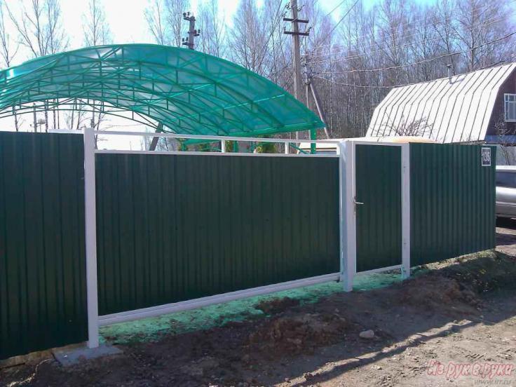 Выдвижные ворота на даче