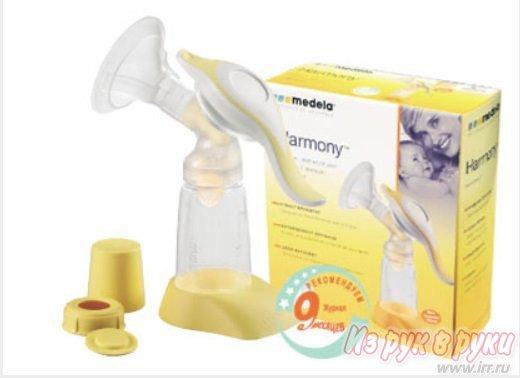 Механический молокоотсос (Harmony Manual Breast Pump.), Medela плюс соска C