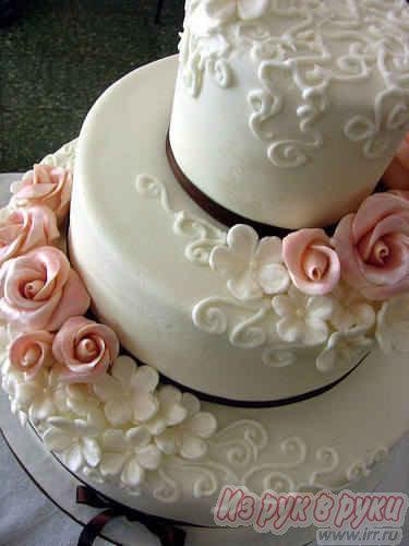 Украшение свадебных тортов мастикой фото
