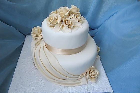 Торт к свадьбе из мастики фото