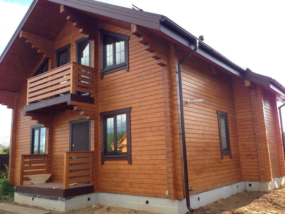 окрашивание деревянный дом фото
