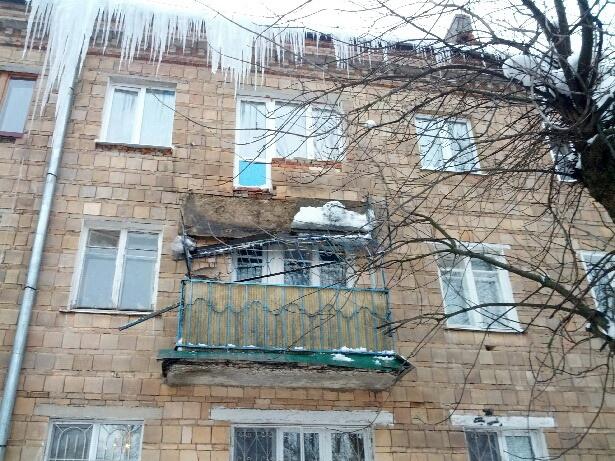 Сергиев посад-инфо обрушился балкон в доме на улице толстого.